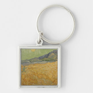 Vincent van Gogh | Wheatfield with Reaper, 1889 Keychain