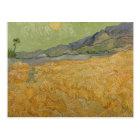 Vincent van Gogh   Wheatfield with Reaper, 1889 Postcard
