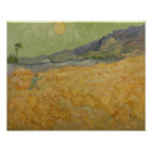 Vincent van Gogh   Wheatfield with Reaper, 1889 Poster