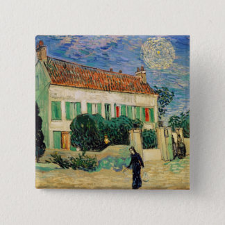 Vincent van Gogh | White House at Night, 1890 Button
