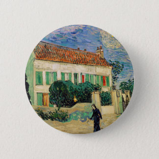Vincent Van Gogh - White House at Night Artwork Pinback Button