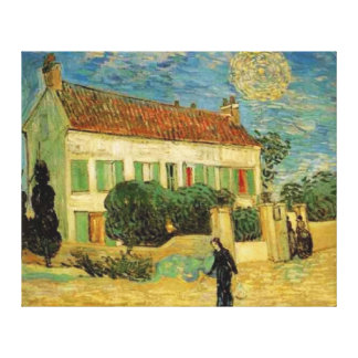 VINCENT VAN GOGH - WHITE HOUSE AT NIGHT CANVAS CANVAS PRINT