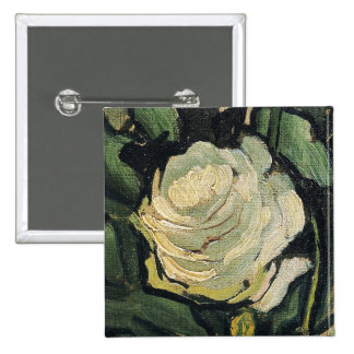 Vincent Van Gogh White Roses Rose Vintage Art Pinback Button