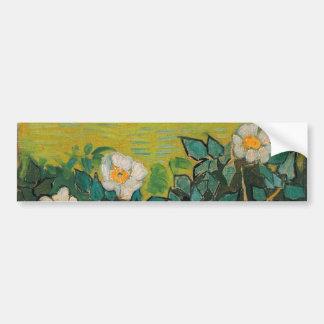 Vincent Van Gogh Wild Roses Vintage Floral Art Bumper Sticker