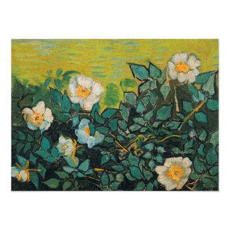 "Vincent Van Gogh Wild Roses Vintage Floral Art 5.5"" X 7.5"" Invitation Card"