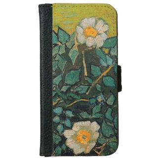 Vincent Van Gogh Wild Roses Vintage Floral Art iPhone 6 Wallet Case
