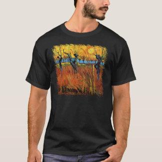 Vincent Van Gogh - Willows At Sunset Fine Art T-Shirt