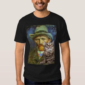 Vincent van Gogh y su gato Playeras