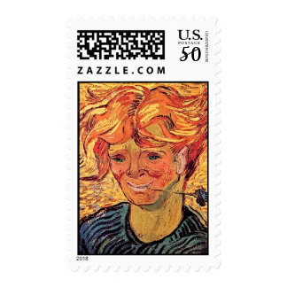 Vincent Van Gogh - Young Man With Cornflower Postage