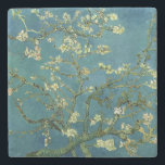 "Vincent van Gogh&#39;s Almond Blossom Stone Coaster<br><div class=""desc"">Vincent Willem van Gogh,  1853 - 1890,   was a Dutch post-impressionist painter famous for his style of rugged beauty and use of bold colours.</div>"