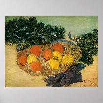 Vincent van Gogh Still Life with Basket of Fruit, Oranges and Lemons with Gloves