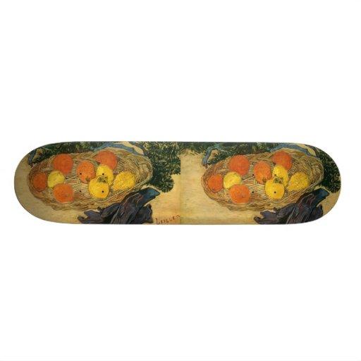 Vincent van Gogh's Basket of Fruit and Gloves 1889 Custom Skateboard