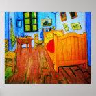 Vincent Van Gogh's bedroom in Arles Poster
