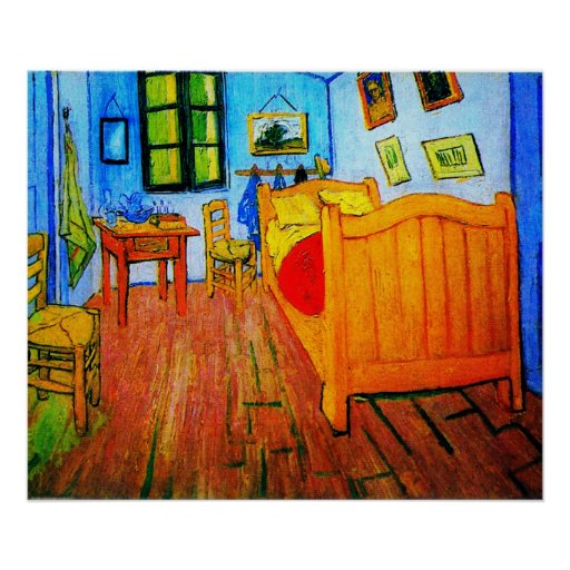 Wooden Bedroom Bench Van Gogh Bedroom Art Bedroom Ceiling Light Fixtures Kids Bedroom Curtains Design: Vincent Van Gogh's Bedroom In Arles Poster