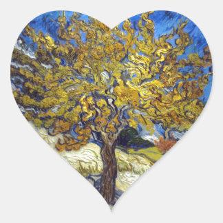 Vincent Van Gogh's Mulberry Tree Heart Sticker