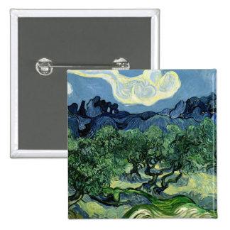 Vincent van Gogh's Olive Trees (1889) Pinback Button