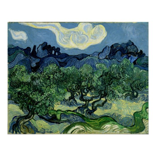 vincent van goghs the olive trees An unlucky grasshopper was just found by the nelson-atkins museum of art to be stuck inside the paint of vincent van gogh's 1889 olive trees painting.