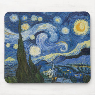 Vincent Van Gogh's Starry Night Mouse Pad