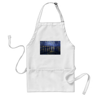 Vincent van Gogh's Starry Night over the Rhone Adult Apron