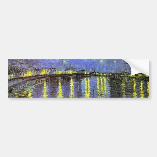 Vincent van Gogh's Starry Night Over the Rhone Bumper Sticker