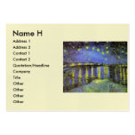 Vincent van Gogh's Starry Night Over the Rhone Business Card Templates