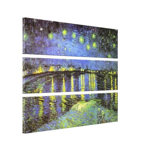 Vincent van Gogh's Starry Night Over the Rhone Gallery Wrapped Canvas