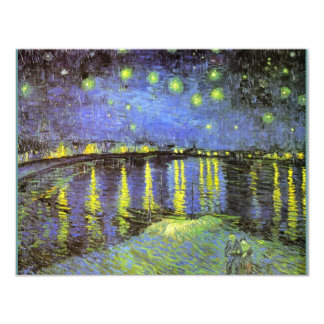 Vincent van Gogh's Starry Night Over the Rhone Card