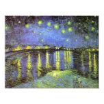 Vincent van Gogh's Starry Night Over the Rhone Custom Invitations
