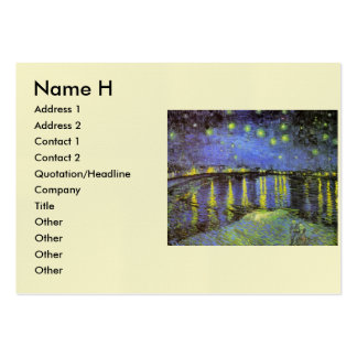 Vincent van Gogh's Starry Night Over the Rhone Large Business Card