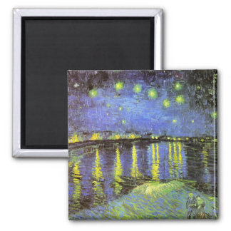 Vincent van Gogh's Starry Night Over the Rhone Magnets