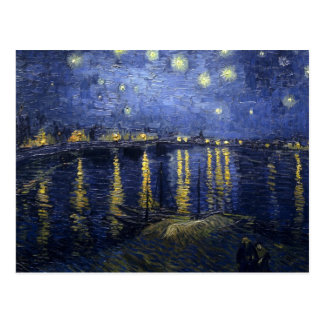 Vincent van Gogh's Starry Night over the Rhone Post Cards