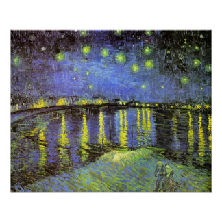Vincent van Gogh's Starry Night Over the Rhone Poster