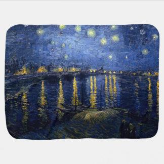 Vincent van Gogh's Starry Night Over the Rhone Stroller Blanket