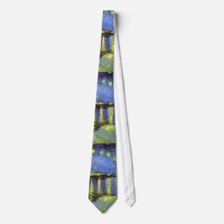 Vincent van Gogh's Starry Night Over the Rhone Tie