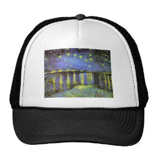 Vincent van Gogh's Starry Night Over the Rhone Trucker Hat