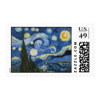 Vincent Van Gogh's Starry Night Postage Stamp