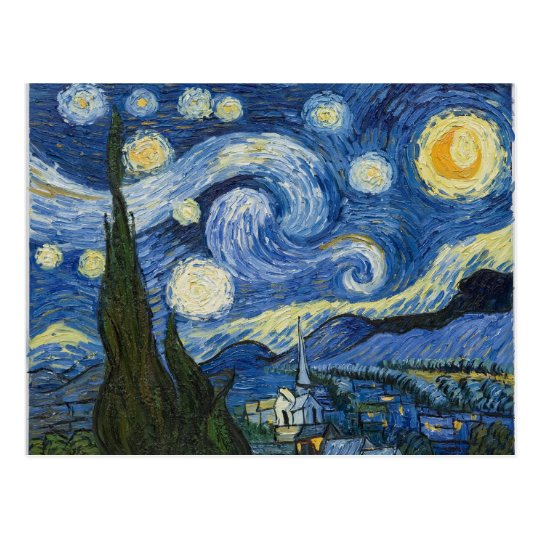 Vincent Van Gogh's Starry Night Postcard