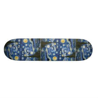 Vincent Van Gogh's Starry Night Skateboards