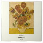 Vincent van Gogh's Sunflowers, 1878 Ceramic Tile