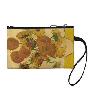 Vincent van Gogh's Sunflowers, 1878 Change Purse