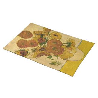 Vincent van Gogh's Sunflowers, 1878 Cloth Placemat