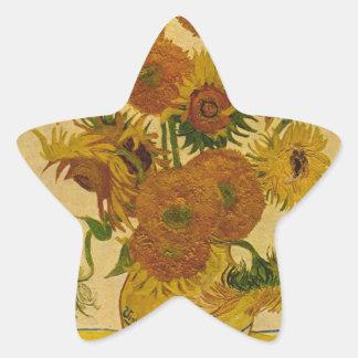 Vincent van Gogh's Sunflowers, 1878 Star Sticker
