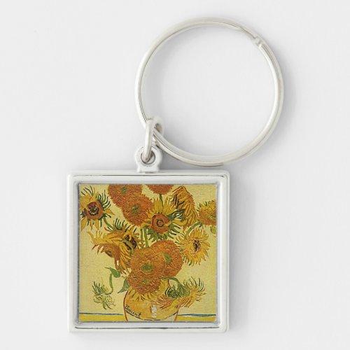 Vincent Van Gogh's 'Sunflowers' Keychain