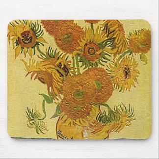 Vincent Van Gogh's 'Sunflowers' Mousepad