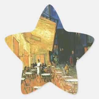 Vincent van Gogh's The Cafe Terrace Star Sticker