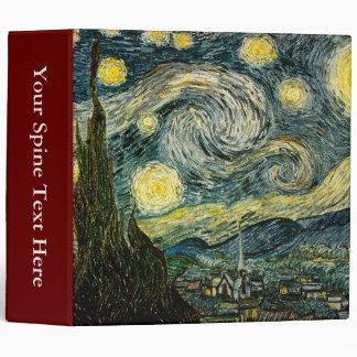 Vincent van Gogh's The Starry Night (1889) 3 Ring Binder