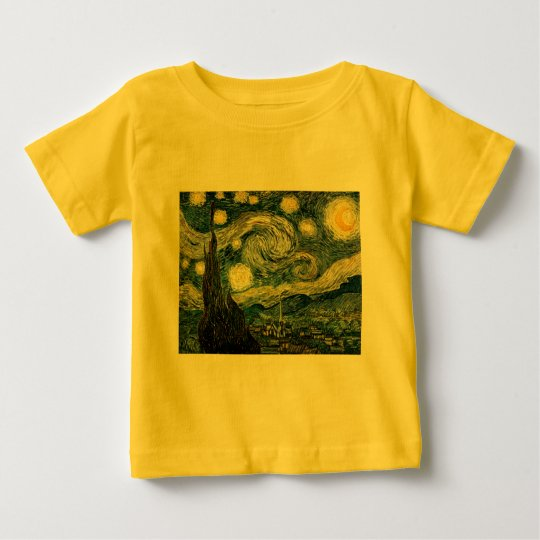 Vincent van Gogh's The Starry Night (1889) Baby T-Shirt