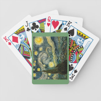 Vincent van Gogh's The Starry Night (1889) Bicycle Playing Cards