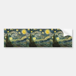 Vincent van Gogh's The Starry Night (1889) Car Bumper Sticker