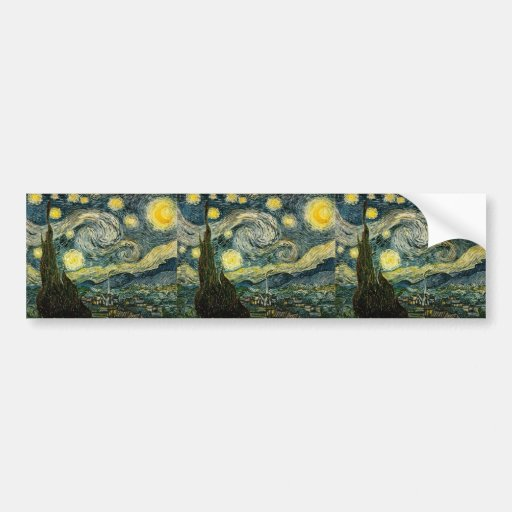 Vincent van Gogh's The Starry Night (1889) Bumper Stickers